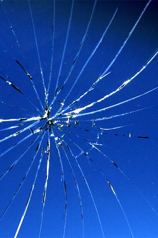 IPhone Broken Glass Wallpaper