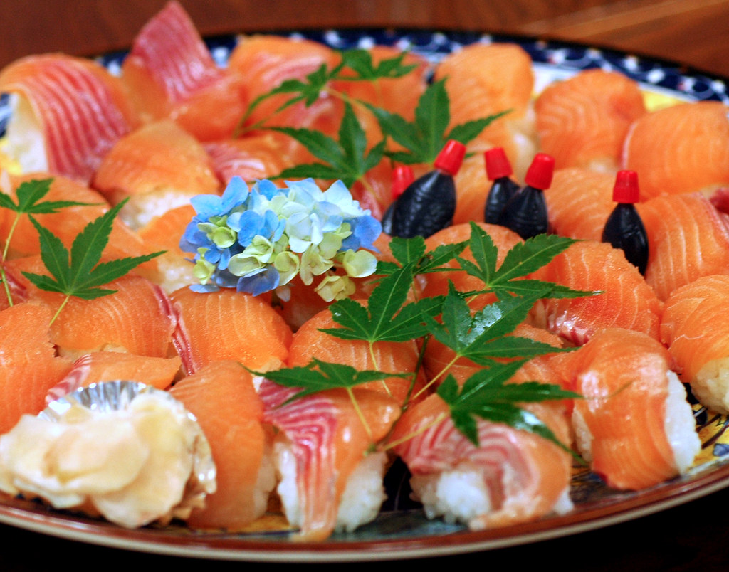 Sushi of Rainbow trout, and 1.8 million dollar industry