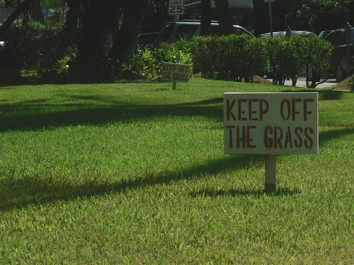 Keep off the grass | by cbcastro