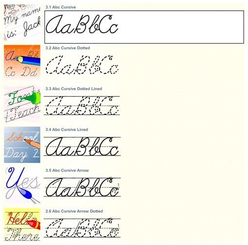 Dotted Cursive Font