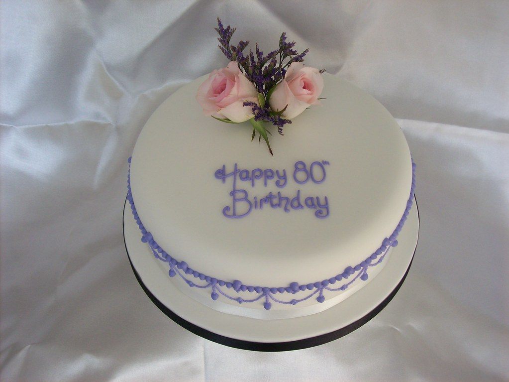 Ladies 80th Birthday Cake With Fresh Flowers Lushcakes Flickr