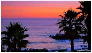 Sunset at Laguna Beach in California (Colorized) | by Scandblue