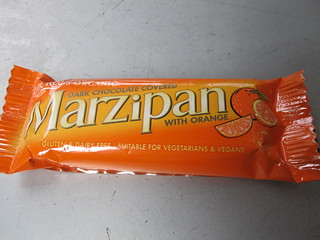 Orange Marzipan Bar (Vegan) | by veganbackpacker