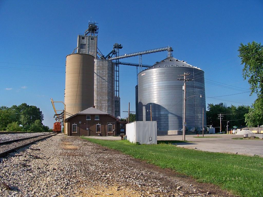 Illinois champaign county thomasboro -  Thomasboro Illinois Grain Elevator By Ray Cunningham