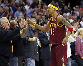 Jamario Celebrates the Win with the Fans | by Cavs History