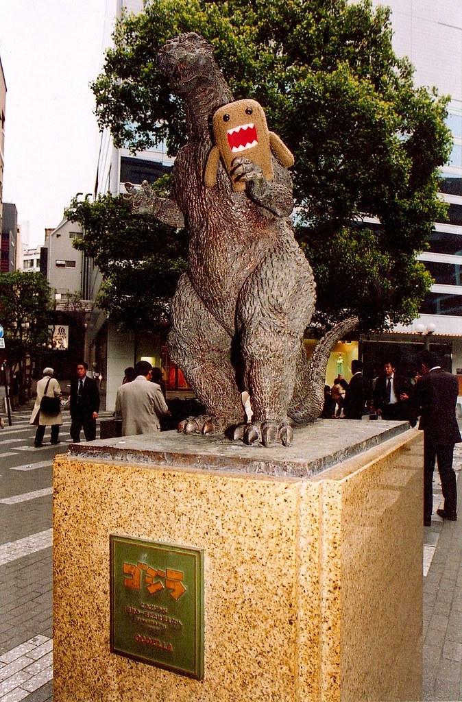 domo vs godzilla weird small bronze statue of godzilla n flickr