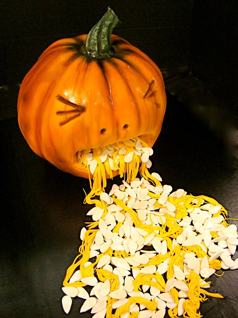 vomiting pumpkin cake!   edible vomit =)   Debbie Goard   Flickr