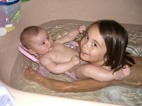 First sissy bath!