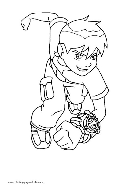 Ben 10 Coloring Page 01