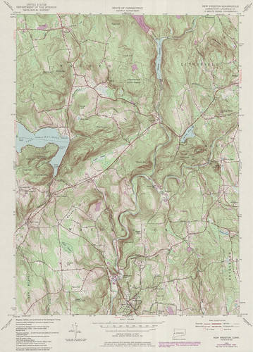 New Preston Quadrangle 1984 - USGS Topographic Map 1:24,000 | by uconnlibrariesmagic