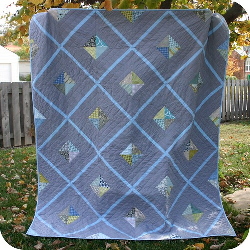 Urban Lattice quilt (aka manly quilt) | by Cara {Me? A Mom?}