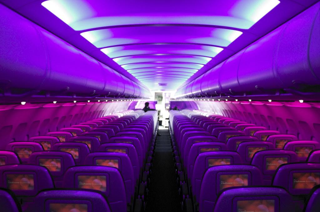 ... Virgin America Mood lighting | by crucially