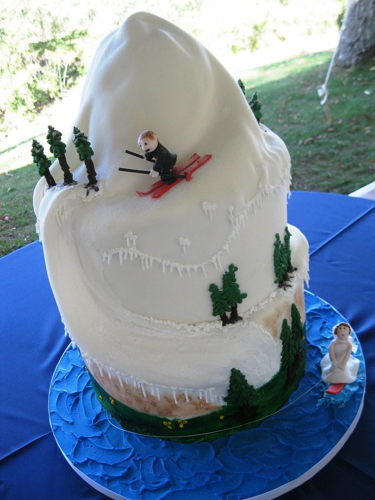 Ski And Slalom Wedding Cake Stephaniethebaker