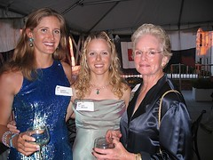 Erin and Isabelle with Marcy Woolworth Porter, one of the Gala Chairs. | by 470 Team USA