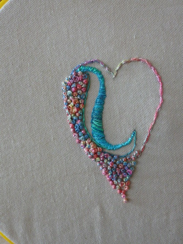 French knots heart colors embroidery need