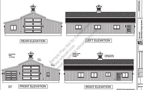 Rv garage plans sdsg450 60 x 50 x 10 apartment barn styl for 50 x 60 garage plans