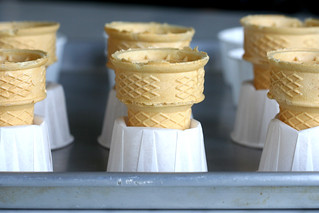 ice cream cones supported by cupcake papers | by chockylit