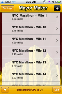 I'm going to use MayorMaker to auto-check-me-in (tweet, etc) at every mile marker during the NYC Marathon tomorrow! | by dpstyles™