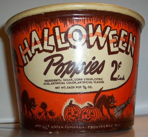 "Vintage Halloween Candy Bucket ""Front view"" 