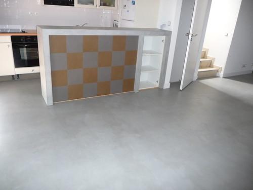 sol s jour cuisine gris clair b ton cir batife beton flickr. Black Bedroom Furniture Sets. Home Design Ideas