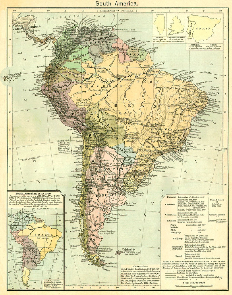 Mapa Antiguo De América Del Sur Mapa Antigo Da América Do Flickr - Sur america map