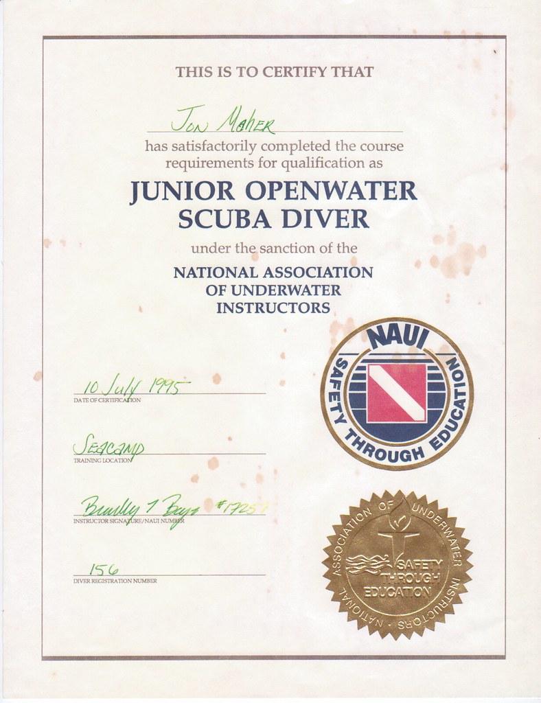 Naui Junior Scuba Diver Certification Jonathan Bannon Maher Flickr