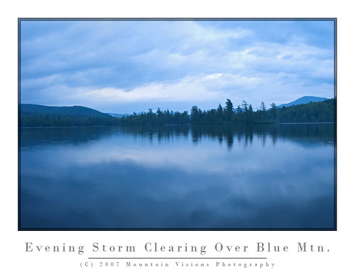 Storm Clearing Over South Pond and Blue Mtn. | by Mountain Visions