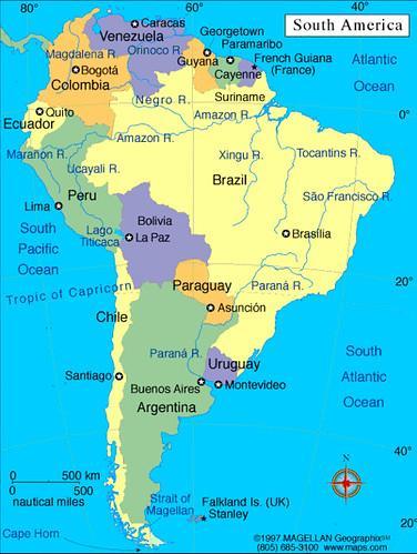 ... Mapa de América del Sur; ...