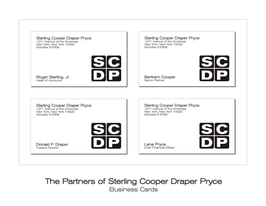 Sterling Cooper Draper Pryce - Business Cards | I took my si… | Flickr