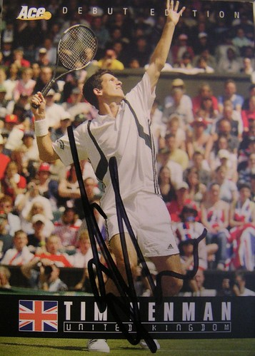 Henman Signed Front | by JCTennis.com