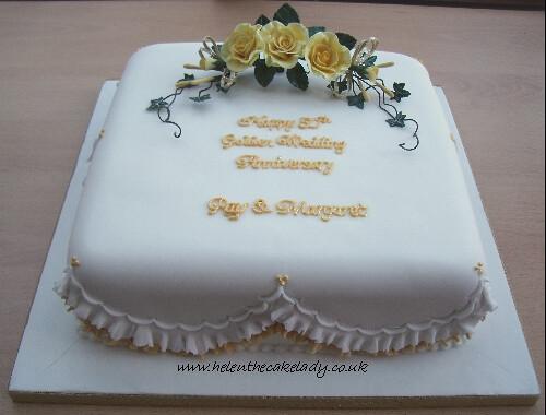 Sugar Free Golden Wedding Anniversary Cakes