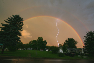 Double Rainbow with Lightning | by tenfrozentoes
