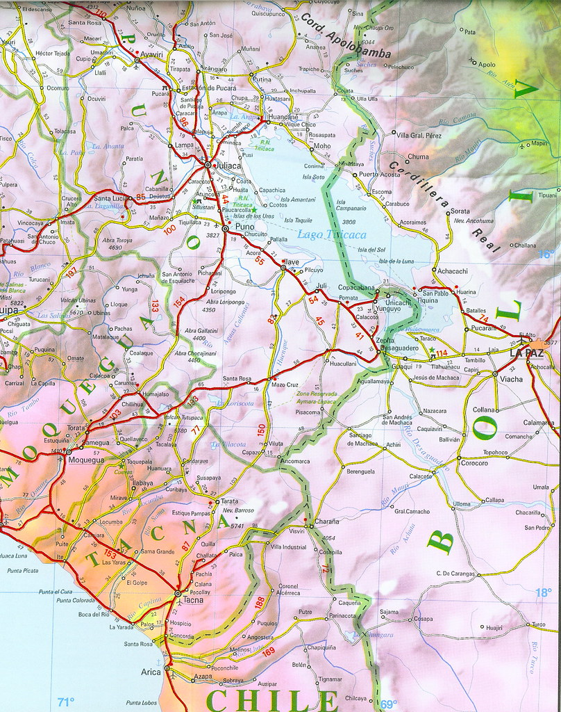 B Mapa Vial Del Perú Edición Road Map Of Peru Flickr - Road map of peru