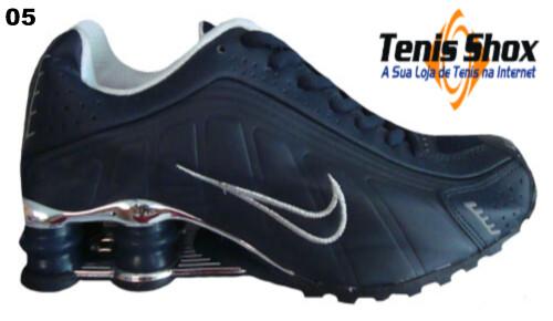 93160ef00 Nike Shox R4 Azul marinho Cromado MOD-06 by Eder Cibin - ... onde comprar  ...