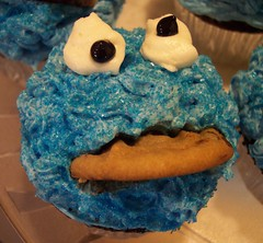 Cookie Monster Cupcake | by Jennifer Laycock
