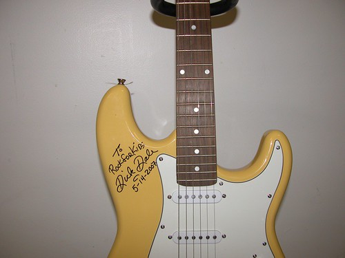 Dick Dale Signed Guitar - Close Up | by Foundations of Music