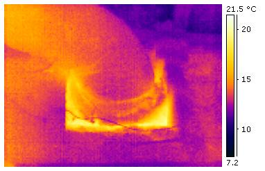 Warm Air Leak Around Heating Duct | by CBC || Thermal