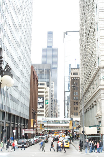 High Key Chicago Shot of El Train and Sears Tower | by DJOtaku