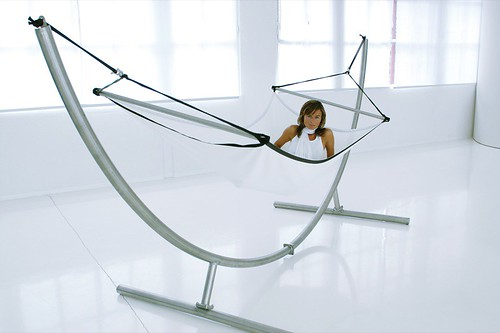 crazy chair h ngematte lazy edelstahlst nder lazy mit cr flickr. Black Bedroom Furniture Sets. Home Design Ideas