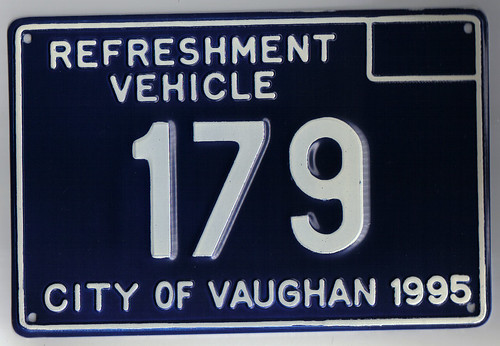Vaughan (ON) Canada  city images : Vaughan ON. CANADA refreshment vehicle 1995 | Plate used on ...