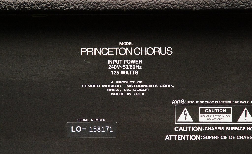 Fender Princeton Chorus | Canon EOS 10d : 150mm 1/500 @ f5 6