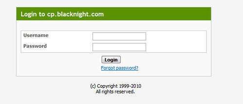 login blacknight