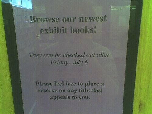 """They can be checked out after Friday, July 6"" 
