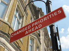 Changed Priorities Ahead sign | by R/DV/RS