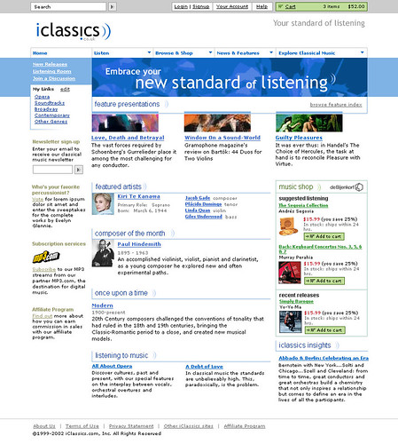 iClassics.com / iClassics / Universal Music Classics Group / Graphic Design / 2002 / IconNicholson | by See-ming Lee (SML)