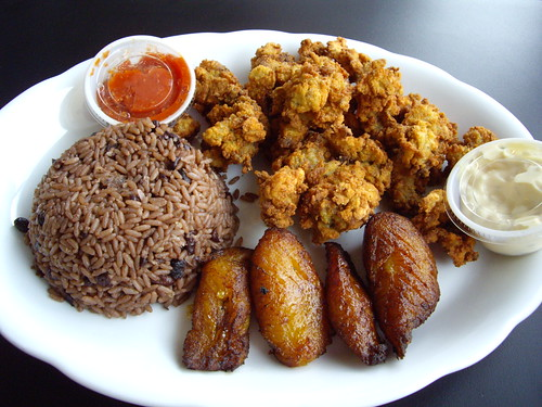 Cuban Tropical Grill Fried Oyster Platter | by swampkitty