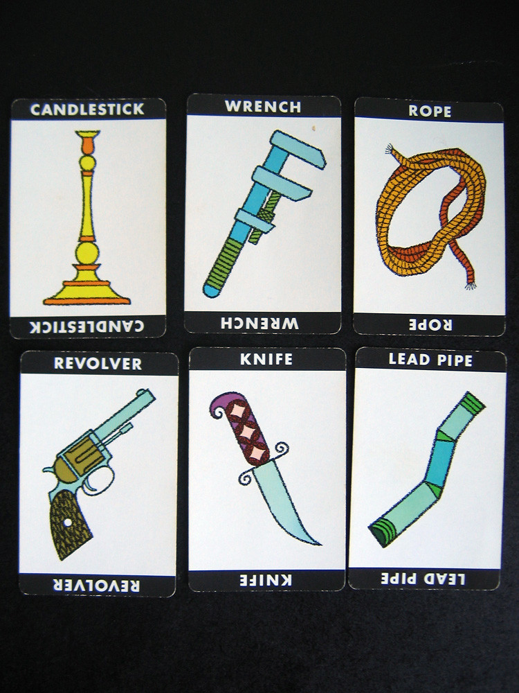 Clue Board Game Weapons