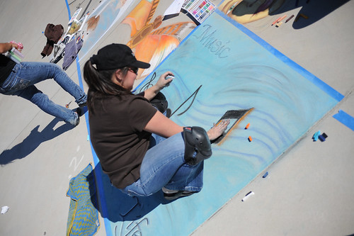 CI drawing at Broome Library's 2008 Artwalk | by California State University Channel Islands