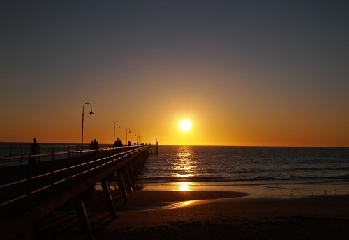 Sunset at Glenelg, few minutes before dusk ;) | by o b s k u r a