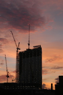 Broadgate Tower sunset | by blech​